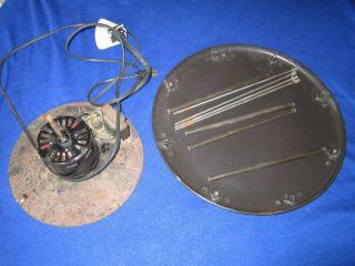 Vintage Hassock Foot Stool Floor Fan Retro Fan Parts