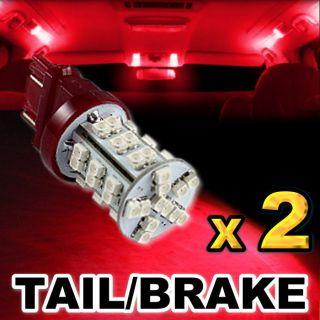Brilliant Red 42 SMD LED Tail Brake Stop Lights 3157 3156 E42