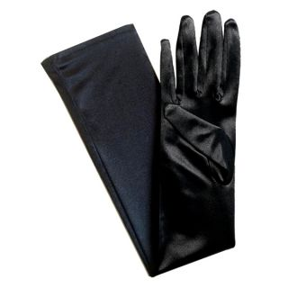 21 Black Stretch Long Bridal Opera Halloween Costume Gloves Over The