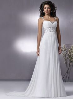 Discount Cap sleeves Wedding Dress White Bridal Wedding Gown US 6 8