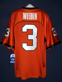 Brandon Weeden 3 Oklahoma State Cowboys Russell Athletic Football