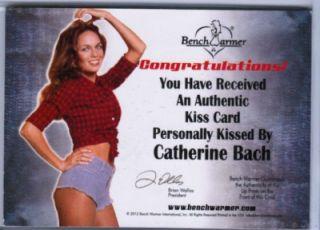 CATHERINE BACH DAISY DUKE 2012 BENCHWARMER DAIZY DUKEZ #d 23/25 GOLD