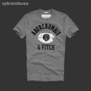 Abercrombie and Fitch AF Mens Muscle Fit Gray Tee T Shirt Medium