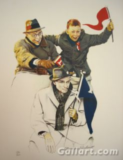Norman Rockwell Cheering School Days Portfolio American Art on