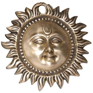 Sun Sculpture Metal Brass Wall Collectibles