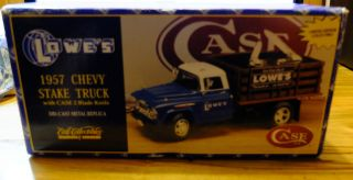 Ertle Lowes 1957 Chevy Stake Truck with Case 2 Blade Knife with