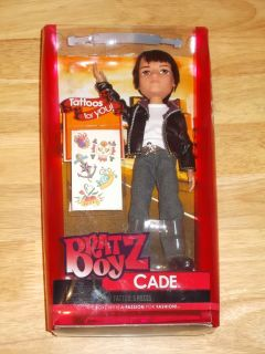 2012 Bratz Boyz Doll Cade Cool Boys Viper w 5pc Tattoos Hard to Find