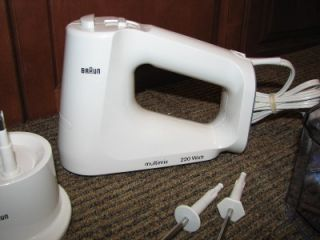 Braun MultiMix 220 Watt Hand Mixer Immersible Blender Food Processor