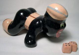 Vintage Brayton Laguna Pottery Soldier Plus Dice Black Americana