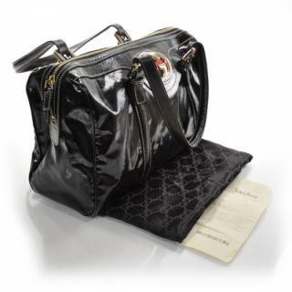 Gucci Dialux Britt Boston Bag Purse Tote Black GG