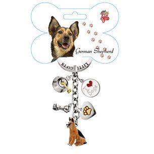 Little Gifts Enamel Dog Breed 5 Charm Key Chains