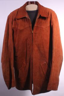 Vtg 50s 60s Brent Soft Leather Long Hipster Jacket L