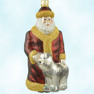 Breen Santas Best Friend Ornament Puppy Dog Blown Glass 1999 Christmas