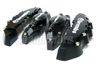 brembo look brake caliper cover front rear set black color