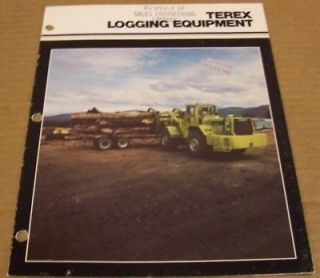 terex 1980 logging equipment sales brochure time left $ 8