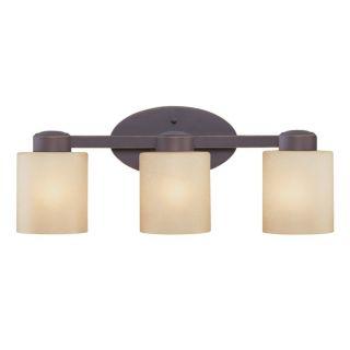 NEW Dolan 3 Light Bathroom Vanity Lighting Fixture, Bronze, Caramel