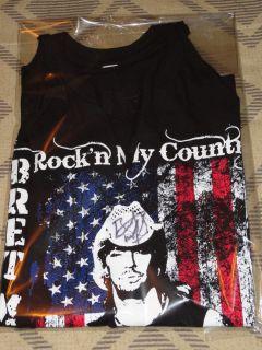 Bret Michaels Autographed and concert worn tee shirt Heinz Field NFL