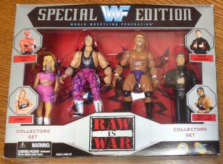 Bret Hart Sunny Sid Signed WWF WWE 1997 Raw Action Figure Set PSA DNA