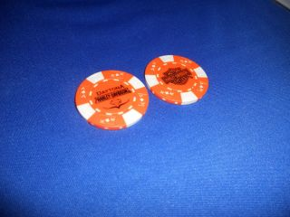 Bruce Rossmeyers Daytona Harley Davidson Daytona FL Poker Chip Orange