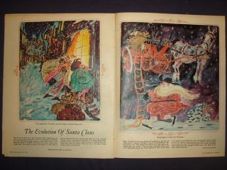 071243CR Christmas Santa Art Bruce Johnson December 21 1968 Newspaper