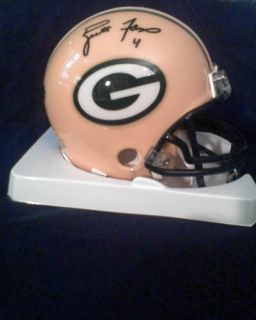Brett Favre Autographed Mini Helmet Signed Green Bay Yellow Packers