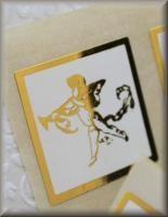 Foil Gold *ARCHER* Wedding Invitation Envelope Seals Stickers x 45