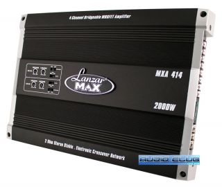 MAX SERIES MXA414 2000W MAX 4 CHANNEL BRIDGEABLE CAR STEREO AMPLIFIER