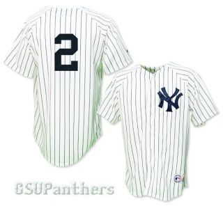 Derek Jeter New York Yankees Home Replica Sewn Jersey Mens Sz M 2XL