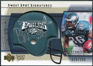 Upper Deck Sweet Spot Signatures Gold Brian Westbrook Auto 100