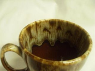 Vintage Brown Drip Coffee Mug Pottery Cup USA