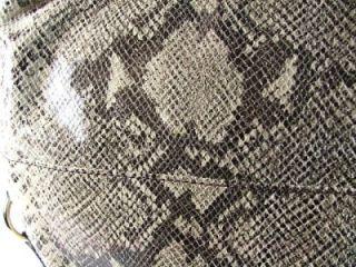 Michael Kors Brimfield Python Leather LRG Shoulder Bag