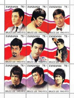 Tanzania Chinese Kung Fu Actor Bruce Lee M s MNH