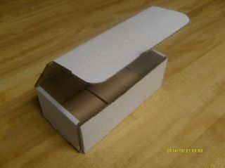 50 4x4x1 Small New White Corrugated Shipping Boxes
