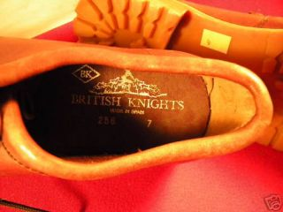 1980s Brownleather British Knights Shoe Sz 7