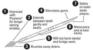 550 The Doctors Brush Picks Dental Toothpicks Interdental Piks 2 Packs