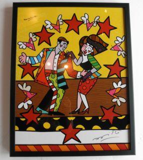 Romero Britto Print Hand Signed  Macys Sobe Framed