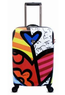 New Romero Britto by Heys 4 Wheeled 22 Spinner international Carry on