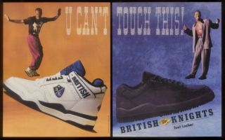 1990 MC M C Hammer Photos British Knights Shoes Ad