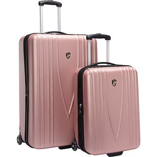 Heys USA Barcelona 2 Piece Hardside Luggage Set   Pink
