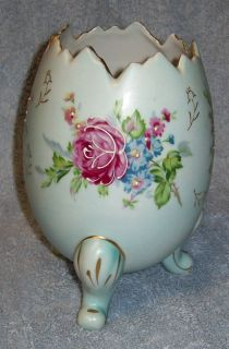 Decorative Vintage Light Blue Hand Detailed Egg