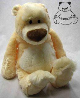 Brody Teddy Bear Stuffed Animal Plush Toy Gund Cream White Floppy Soft