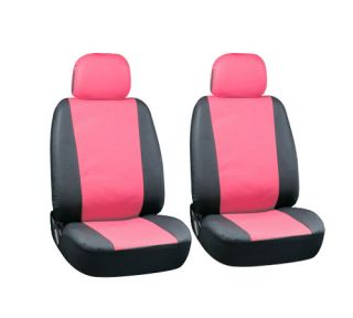Synthetic Faux Leather Low Back Front Bucket Auto Seat Covers