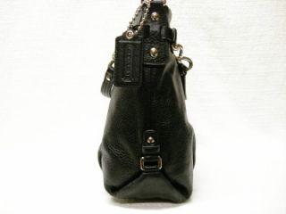 Coach Signature Leather Brooke Black Purse Handbag 14142M Chain Link