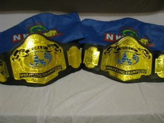 NWA Tag Team Championship Title Belts WWE WWF WCW TNA ECW