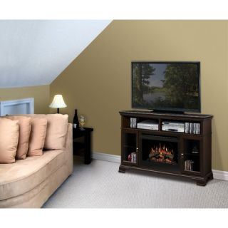 Dimplex Brookings Electric Fireplace with Glass Ember Bed in Espresso