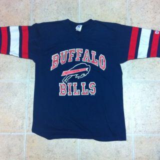 Vintage Buffalo Bills Jersey Logo 7 NFL Large