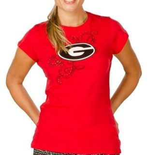 Georgia Bulldogs UGA Womens Short Sleeve T Shirt