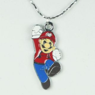 Lot 9pcs Super Mario Bros Brothers Charm Pendant Necklaces Birthday