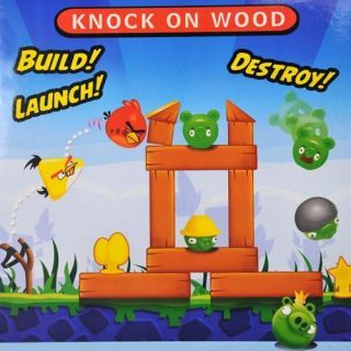 New Hot Card Game Knock On Wood Building Angry Birds Toy Family Color