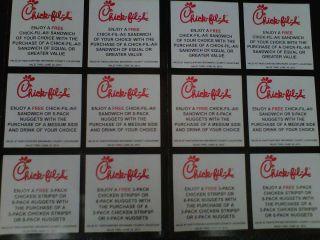 Chick Fil A Coupons Broward County B 1 G 1 Free 12 Coupons Free Food